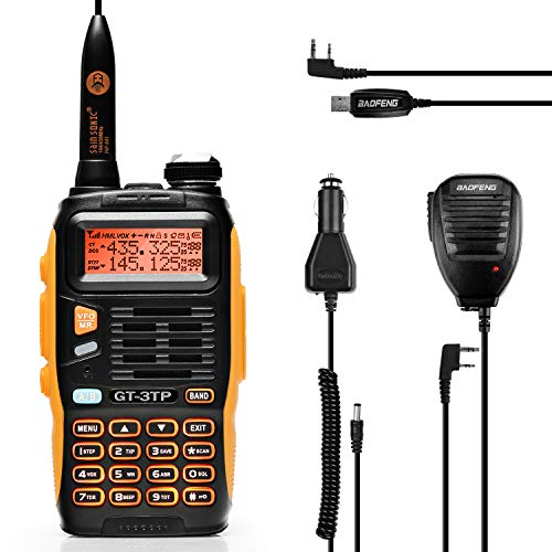 Baofeng GT-3TP Dual Band VHF/UHF radio portatile, radiotelefonia amatoriale, display LCD, Walkie Talkie PMR Ctcss/Cdcss con microfono e cavo USB