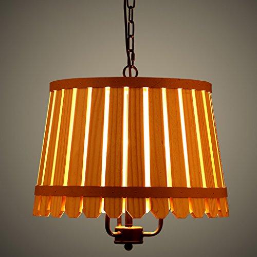 Nordic Mediterraneo paese americano camera da letto den lampada lampade arti creative Barrel ristorante lampadario da giardino in legno