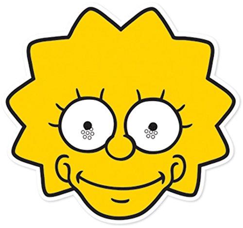 Star Cutouts Bedruckte Gesichtsmaske von Lisa Simpson Maske