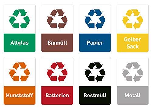 Pegatinas recicladas