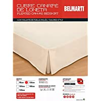 Belmarti Cubre CANAPÉ - Funda DE SOMIER, Color Crudo, Medida Cama 105, Disponible