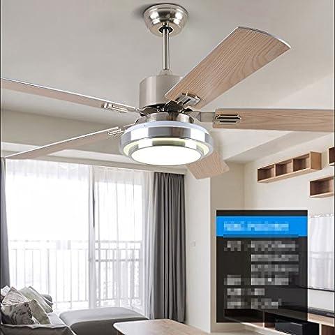 Luces-de-ventilador-de-acero-inoxidable-Ventilador-de-techo-Luz-de-sala-de-estar-Ventilador-elctrico-Simple-Lumbrera-de-ventilador-de-hoja-de-LED-moderno-simple-Diseo-simple-Motor-silencioso-Garanta-d