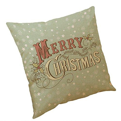 Leder Couch Sammlung (Lucky Mall Weihnachten Baumwolle Leinen Kissenbezug Sofa Kissenbezug Home Decor)
