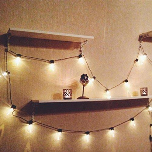 Upxiang 35M 20 LED-Fenster Vorhang-Schnur-Lichter, auffallende Stern-Lampe, ideal für im Freien Haus-Partei-Hauptfenster-Badezimmer-Hochzeits-Festival-Feiertags-Art- und Weiseshow-Tanz-Stadiums-Dekor (Haus Dekor Im Freien)