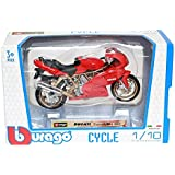 Bburago 1:18 Miniature Die Cast Motorcycle Collection, Color may Vary