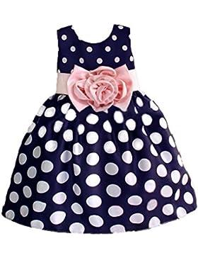 Vlunt - Vestido para niñas, formal, vestido de boda, vestido de fiesta, de dama de honor, para 1-9 años, 90cm...