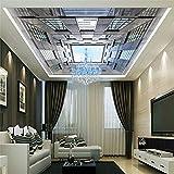 Cucsaist 3D Wallpaper Architektonische Decke Fotografie Hintergrund Wandbild Für Wohnzimmer Dekoration, 250 cm (B) X 175 cm (H)