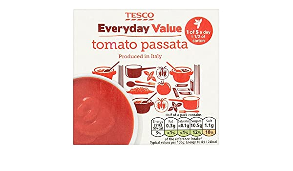 Tesco Everyday Value Passata 500g Amazoncouk Grocery