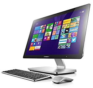 Lenovo A540 60,5cm (23,8 Zoll FHD LED) All-in-One Desktop-PC (Intel Core i5-4258U, 2,4GHz, 2,9GHz 8GB RAM, Hybrid 1 TB HDD (8GB SSHD), NVIDIA GeForce GT840A / 2 GB, Touchscreen, Win 8.1) silber