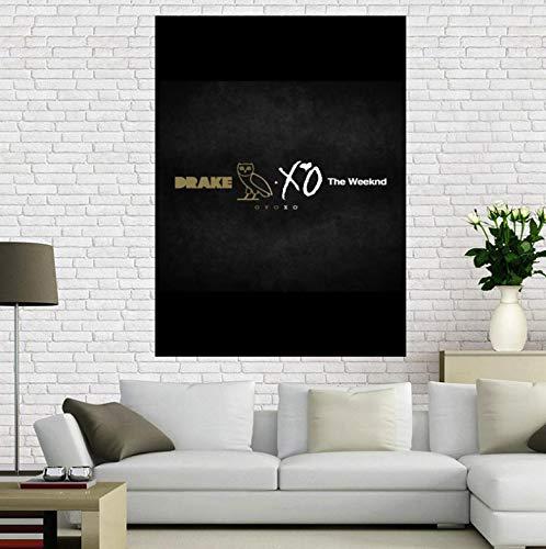 REDWPQ Quadro su Tela The Weeknd Trilogy Poster Musicale Decorazioni per la casa Panno Tessuto Stampa Poster da Parete 40X60 cm Senza Cornice