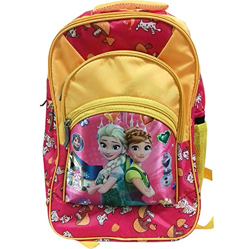 Rose Bud Barbie/Cinderella Princess/Snow White Cartoon Print Pink and Yellow Color (10-15 Lt/16 Inch) 3 Compartments Shoulder Strap padding Polyester Backpack Bag for Nursery and Junior School Girls, Boys and Kids Students (Doraemon, Chota Bheem, Ben10 Ben 10, Barbie, Motu Patlu, Cinderella Princess, Sponge Bob, Honey Bunny, Subway Surfers, Micky Mouse, Bugs Bunny, Tweety, Goofy, Tom, Jerry, Donald duck, Snow White etc)  available at amazon for Rs.440