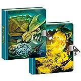 Geheimes Tagebuch - heraus zu halten Drachen - linsenförmige Bewegungsabdeckung - 200 Seiten mit Schloss und Schlüssel - Größe 160mm x 140mm