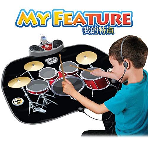 Supertop Kinderspielmatte Für Jazz-Trommel, Kinderspielmatte Für Jazz-Trommel Multifunktionale Faltbare Pädagogische Wolldecke