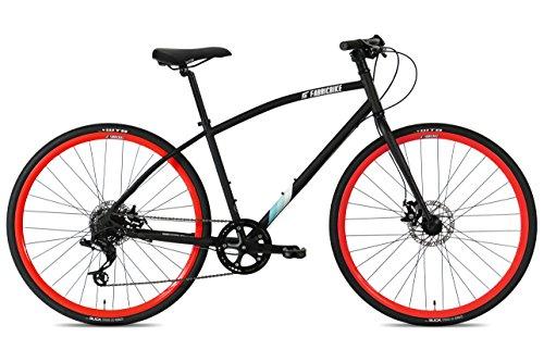 FabricBike pendolare, ibrida strada bicicletta da strada, SRAM 8 velocità, Tektro freni a disco meccanici (Matte Black & Orange, M-45cm)