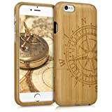 kwmobile Coque Apple iPhone 6 / 6S - Étui de Protection Rigide en Bois de Bambou -...