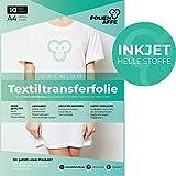 Inkjet Premium A4 T-Shirt Transferfolie für HELLE Textilien/Stoffe zum Aufbügeln - inkl. 50+ GRATIS Motiv-Vorlagen - Transferpapier/Textilfolie geeignet für alle Inkjet Tintenstrahldrucker