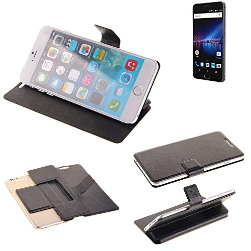 K-S-Trade Schutz Hülle für Phicomm Passion 4 Schutzhülle Flip Cover Handy Wallet Case Slim Handyhülle bookstyle schwarz