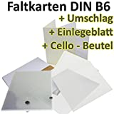 50 Stück // DIN B6 Faltkarten + Umschläge + Einlegeblätter + Cellobeutel // NATUR-WEISS // Größe: 23 x 17 cm (gefaltet 11,5 x 17 cm) // 240 g/qm // Aus der Serie FarbenFroh von NEUSER!