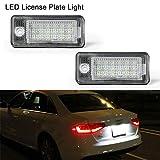 OZ-LAMPE LED-Kennzeichenleuchte 2 Pack 18 SMD-LED-Leuchten mit eingebautem CAN-Bus-Widerstand und fehlerfreier, wasserdichter, energiesparender Kennzeichenleuchte Für A3/S3,A4/S4/RS4,A5,A6/C6,A8/S8,Q7