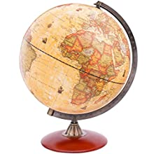 Exerz X-Large Dia 30 CM Antique Globe With A Wood Base