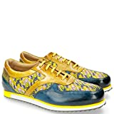 MELVIN & HAMILTON MH HAND MADE SHOES OF CLASS Niven 3 Woven Bluette Yellow Mint Green Zamra-47