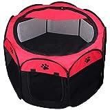 Keesin Box pieghevole a 8 pannelli in rete per cani, gatti, conigli, da casa
