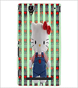 PrintDhaba Kitty D-5977 Back Case Cover for SONY XPERIA T2 ULTRA (Multi-Coloured)
