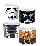 Star Wars Set von 4Eierbecher Helle Seite Dark Side