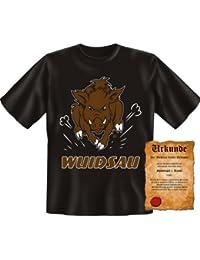 Wuidsau - Sprüche Fun T-Shirt - rasendes Wildschwein : )
