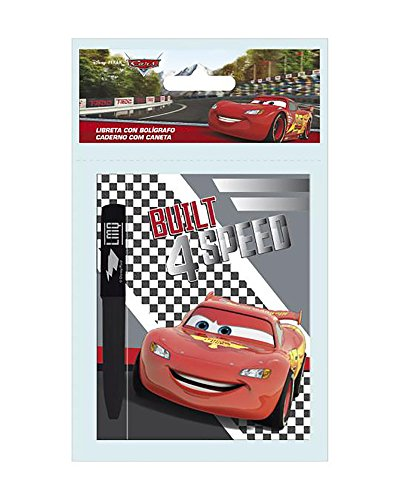 Cars de Disney Set de libreta y boligrafo