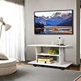 HOMFA-Meuble-TV-Meuble-Tele-Table-Basse-Meuble-TV-Design--Roulettes-Table-TV-Blanc