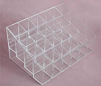 Liroyal Clear Acrylic Lipstick Holder Display Stand Cosmetic Organizer Makeup Case