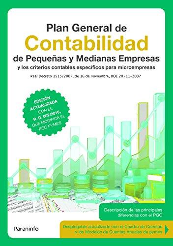 Plan General de Contabilidad de pequeñas y medianas empresas 3.ª edición 2017 por Instituto de Contabilidad y Auditoría de Cuentas