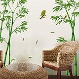Hongrun Die China Bambus Abnehmbare Wasserdichte Wall Sticker An Der Wand des Wohnzimmers Schlafzimmer Gemütliches Bett Selbstklebende Tapete Poster 295 * 165 cm