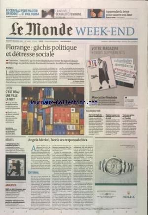 MONDE [No 21115] du 08/12/2012 - FLORANGE - GACHIS POLITIQUE