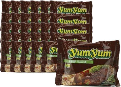 Yum Yum 13464 - Fideos Instantáneos De Pollo, 30 Paquetes de 60 gr