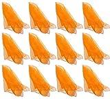 Hoerev®Tanz und Jongliertücher 12er Set aus Nylon,einzelne Farbe, 60CM*60CM (24