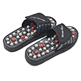 BYRIVER Therapeutic Acupuncture Massage Ball Flip Flops for Men Women Foot Relaxation Massager