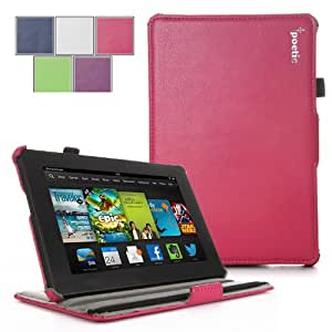 Poetic StrapBack Case for All New Kindle Fire HD 7 2nd Gen (2nd Generation 2013 Model) 7inch Tablet Magenta (with Smart Cover Auto Wake / Sleep Feature)