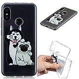 Klassikaline® Handy-Hülle TPU Silikon Xiaomi Redmi 6 Pro Hülle, Etui Protective/Case / Cover/Zubehör / Silikon hülle/Schutz-Cover - Selfie Hund