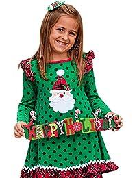 Riou Weihnachten Set Baby Kleidung Pullover Pyjama Outfits Set Familie Kleinkind Baby Mädchen Weihnachten Rüschen... preisvergleich bei kinderzimmerdekopreise.eu