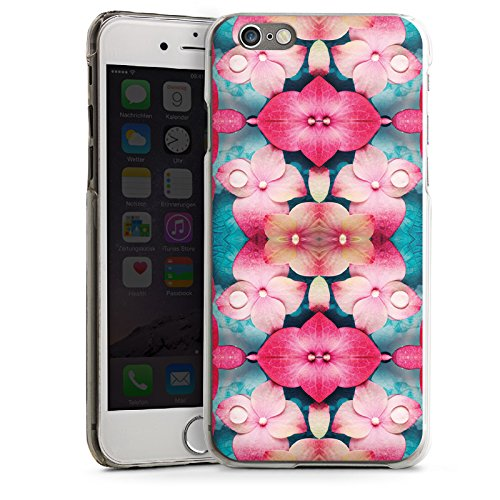 Apple iPhone 4 Housse Étui Silicone Coque Protection Fleurs Fleurs Motif CasDur transparent