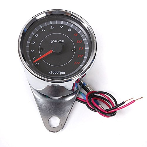 Motorrad- Geschwindigkeitsmesser Tachometer Kilometerzähler Drehzahlmesser 0 bis 13.000 RPM