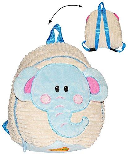 Unbekannt 3-D Effekt -  Elefant  Soft & Plüsch Rucksack - Tasche für Kinder - Plüschtier - SUPERWEICH ! - Jungen Mädchen z.B. für Kindergarten und Vorschule / Kinderr.. - Soft-plüsch Plüschtiere