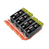 4 Cartouches d'Encre pour imprimante Canon Pixma iP4850 iP4950 iX6550 MG5150 MG5250...