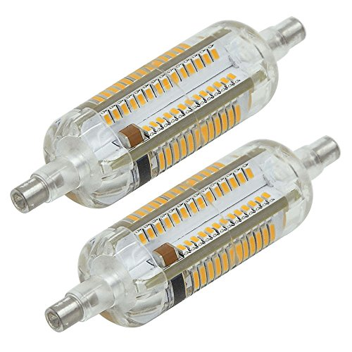 MENGS® 2 Stück R7s-J78 78mm LED Lampe 5W AC 220-240V Warmweiß 3000K 104x3014 SMD 360 Grad Strahl Mit Silikon Mantel