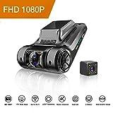 Camara de Coche,Dash Cam, FHD Dual Lens Dash Cam 1080P Cámara de Coche Camara...