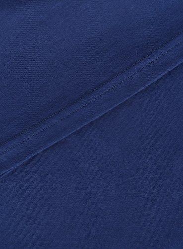 oodji Ultra Herren T-Shirt Basic (3er-Pack) Blau (7900N)