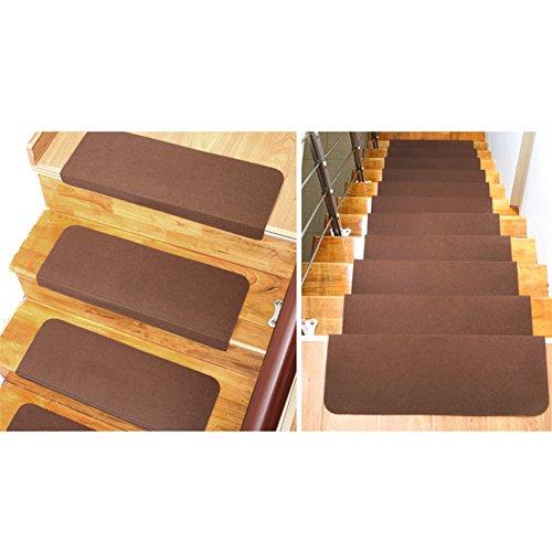 Lianle 5 pcs tappeti per scale antiscivolo rettangolare per scala