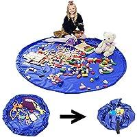 Preisvergleich für Kinder Spielzeug Aufräumsack Multifunktional Beutel, Sehr Große Spieldecke Matte Baby Spielzeug Aufbewahrung Tasche, Wassedicht 150cm XL